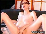 Big Boobs Redhead With Glasses Hitachi Play