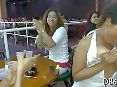 Black and white girls go crazy for a sexy stripper