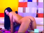Sexy hot stripteasing babe at home seducing with her hot stu
