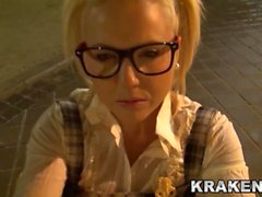 Teen Blonde pigtail. Her first time in a xxx video!