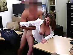 Bouncy big tits MILF fucked from behind