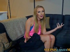 Teen stepsis gets cumshot
