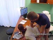 Brunette patient gets doctors dick for medical justification