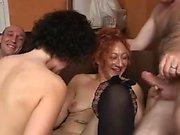 Mature MILF secretaries lick each other s pussy