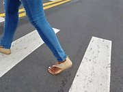 Compilation of candid feet (slo mo)