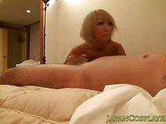 Asian amateur stuffs her mouth with hard cock
