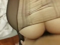 Hotel explosion of black silk Cougar
