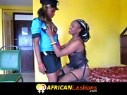 Ebony lesbians from African play dressup