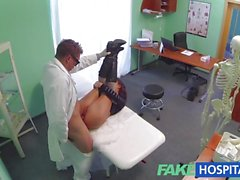 Vivacious patient fucked hard by Doctor