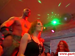 Real euro amateurs munching in stripper cocks