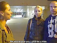 Beautiful Czech Pair Gets Money