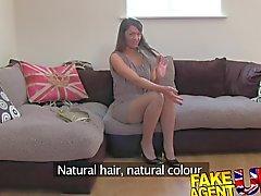 FakeAgentUK Hairy pussy Latvian babe