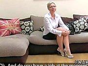 British fake agent fucks a blonde Bulgarian MILF