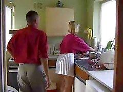 British Slut Gets Fucked In The Kitchen