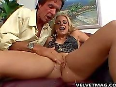 Angela Stone Gets Face Fucking Blowjob