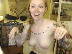 Hot webcam blonde strips