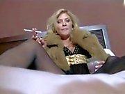 Hot Mature Cougar Smoking JOI