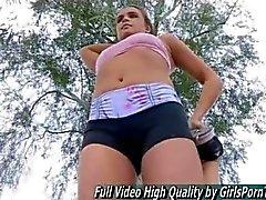 Half naked teen jogs in public