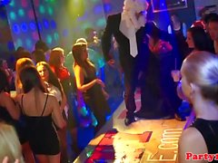 Party babes enjoy club fuck