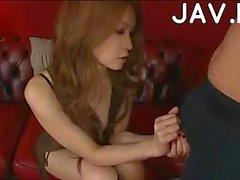 Japanese footjob scene