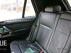 Busty amateur fucked on backseat in fake taxi