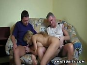 A chesty German inexperienced gf deepthroats 2 pricks and r