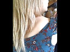 Upskirt in Train