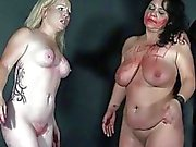 Spanking two amateur slavegirls