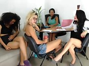 Interracial lesbian teen amateurs having sex