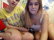 Lesbian teens redhead and blonde on webcam