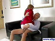 British amateur fucked by an old mans hard cock