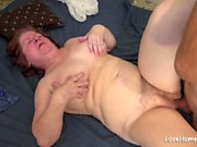 Fat big tits mommy is relaxing and riding