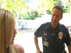 Police man fucks a blonde in her home for being a whore
