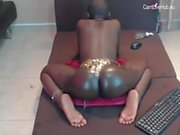 Young African Gir bubble butt Webcam Show pt2