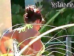 Huge rack gf Rahyndee sucks and plowed while being filmed