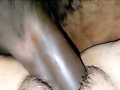Cheating her husband with a hang black cock