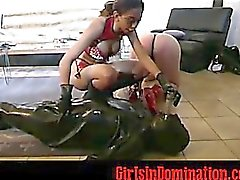 Sexy chick torturing