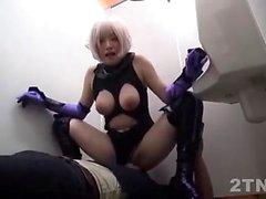Japanese big boobs teased