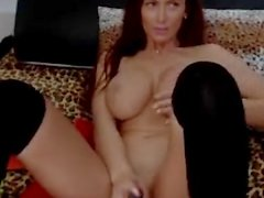 Nadina squirts in her stockings