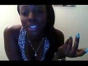 Ebony Amateur Pleasing Herself On Webcam
