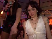 Hot babes at the club have fun