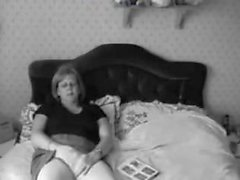 Chubby mature caught masturbating