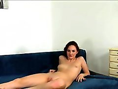 Tall Russian redhead fucks in casting