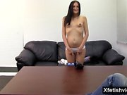 Hot pregnant casting and creampie
