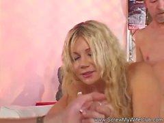 Blonde Swinger Wife With Stranger