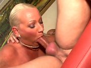 Fat amateur blonde get anal and jizz