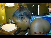 Ebony lori sucking a big black cock