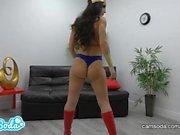 Reya Sunshine in Wonder Woman Cosplay MASTURBATION on CamSoda
