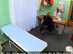 Classy amateur businesswoman in docs office