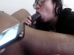 Asian blowjob in hot tub with a big cock